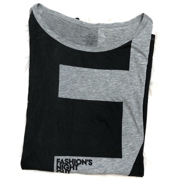 Neiman Marcus Tops - Fashion's Night Out Long Sleeve Gray T-shirt